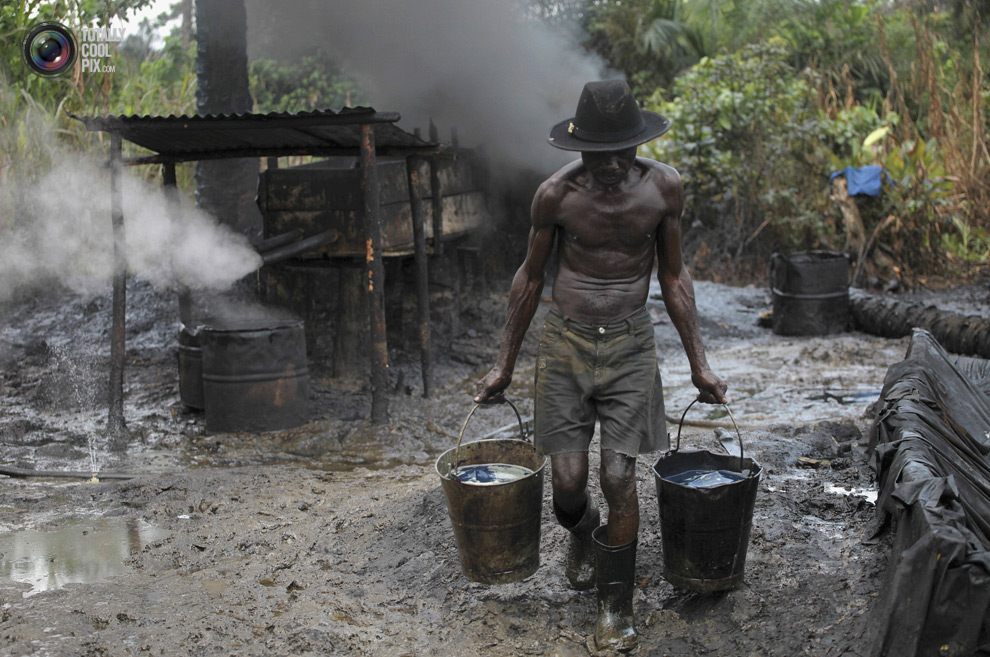 Image result for oil theft in nigeria