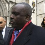 James Ibori, former governor of Nigeria's Delta State, speaks after a court hearing outside the Royal Courts of Justice in London, Britain, January 31, 2017. REUTERS/Estelle Shirbon